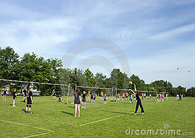 Volleyball playing fields  Editorial Image
