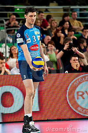 Volleyball Polish cup finals Editorial Stock Image