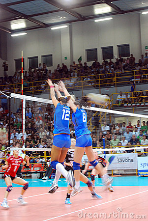Volleyball: Preolympic Test Match Editorial Image