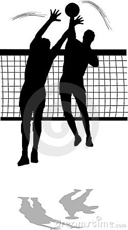 Free Volleyball Spike And Block Men Stock Photo - 4574650