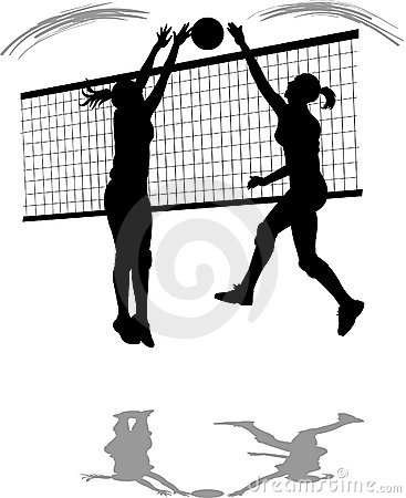 Free Volleyball Spike/Block Royalty Free Stock Photography - 997517