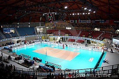 Volleyball sports arena Editorial Stock Photo