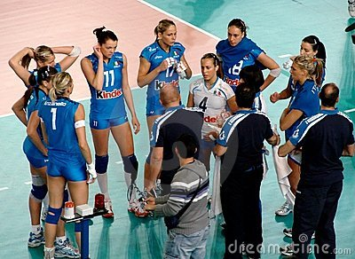 Volleyball: Time out, Italy Editorial Photo