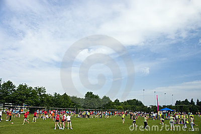 Volleyball tournament, Holland Editorial Stock Image