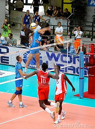 Volleyball World League: Italy vs Cuba Editorial Image