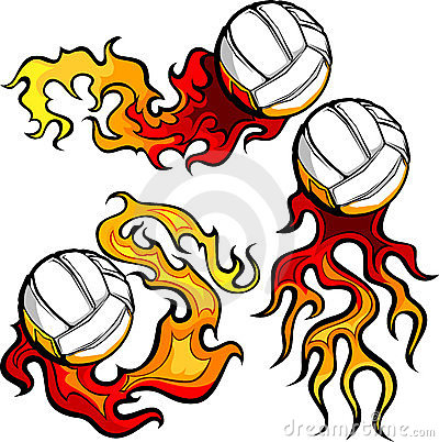 Volleyballs with Flames Images