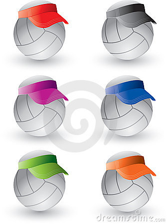 Volleyballs with visors