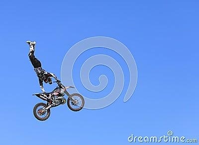 Volo della bici Fotografia Editoriale