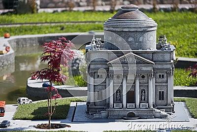 Volta Temple in mini Italy park Editorial Photography