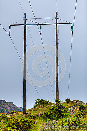 Free Voltage Poles, Electricity Pylon, Transmission Power Tower Royalty Free Stock Photography - 93765637