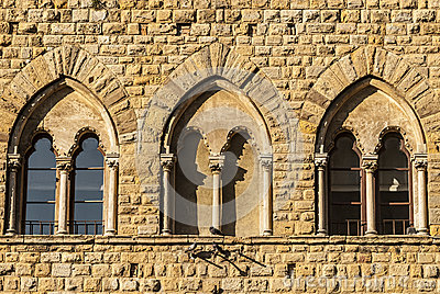 Volterra (Pisa) - Three mullioned windows