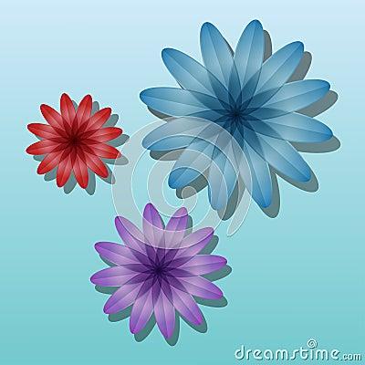 Volume color flowers