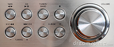 Volume handle and control buttons