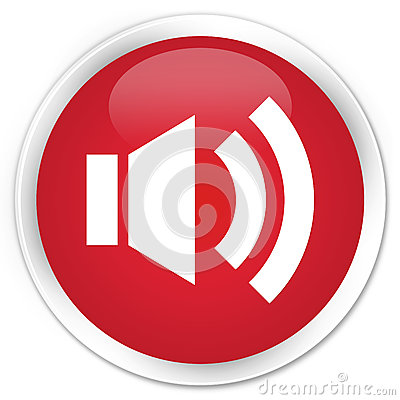 Free Volume Icon Premium Red Round Button Stock Images - 89296864