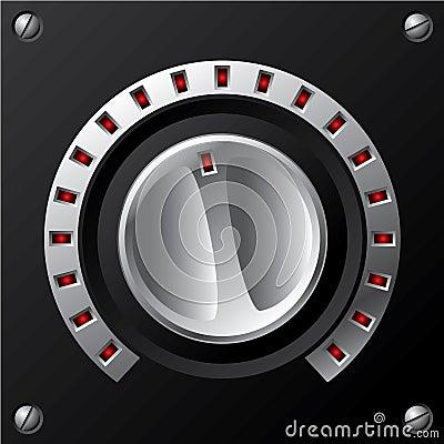 Volume knob with LED
