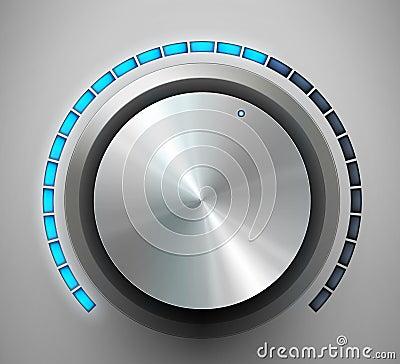 Volume knob. Vector illustration