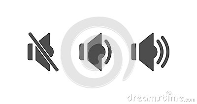 Volume loudness icons Vector Illustration