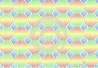 Volume seamless multi-coloured background