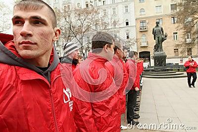Voluntary youth militia Editorial Stock Photo