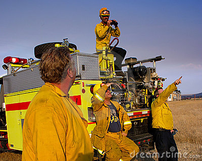Volunteer Firefighter Editorial Photo