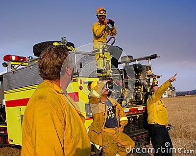 Volunteer Firefighter Editorial Photo