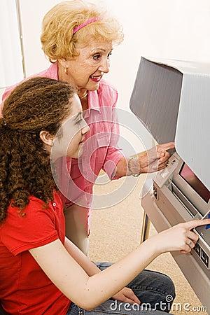 Free Volunteer Helps Voter Stock Photo - 4495610