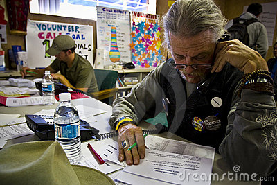 Volunteers for campaign Editorial Stock Photo