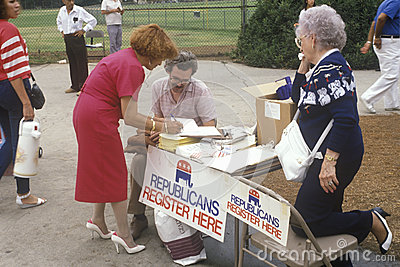 Volunteers working for Republican registration Editorial Image