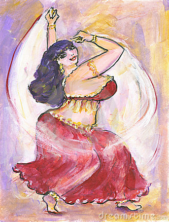 Voluptuous Belly Dancer