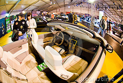 Volvo cabrio interior Editorial Stock Photo