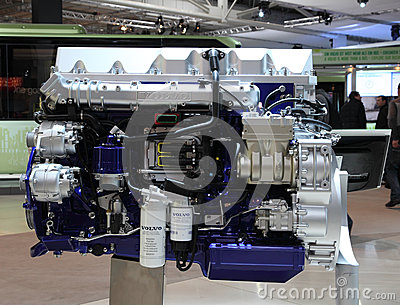 Volvo Diesel Engine for Trucks Editorial Photography
