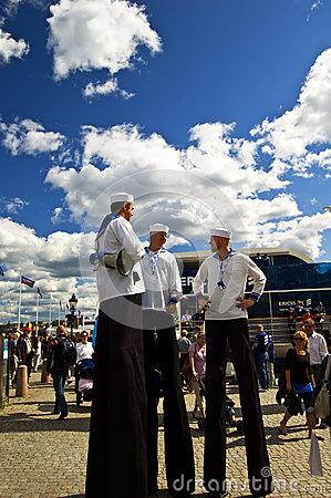 Free Volvo Ocean Race 2008-2009 Stopover Stockholm Stock Images - 9975304
