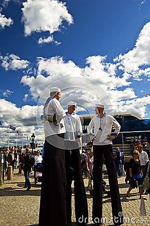 Volvo Ocean Race 2008-2009 stopover Stockholm Editorial Stock Image