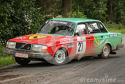 Volvo Rallye Car Editorial Stock Image