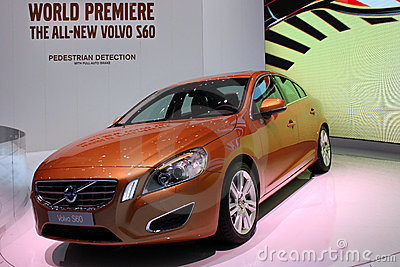 Volvo S60 at the Motor Show 2010, Geneva Editorial Image