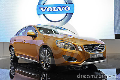 VOLVO S60 T6 Fotografia Stock Editoriale