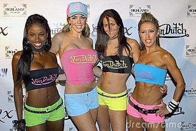 Von Dutch models Editorial Photo