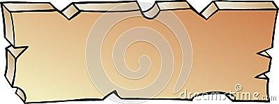 Von Hand gezeichnete vektorabbildung einer Planke