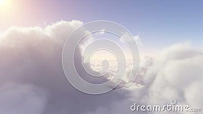 Voo através das nuvens eden vídeos de arquivo