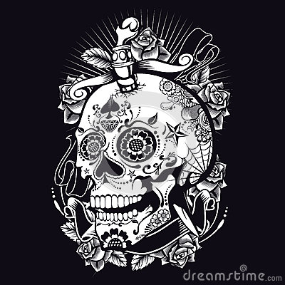 Free Voodoo Sugar Skull Royalty Free Stock Photography - 35443757
