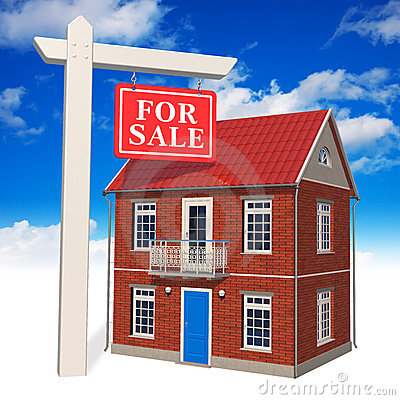 ?Voor verkoop? teken voor nieuw huis