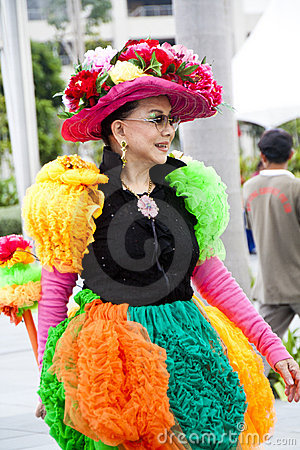 Vorbetrachtung von Chingay Parade 2011 Redaktionelles Stockfoto