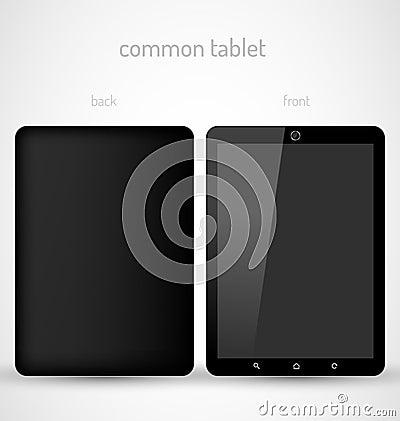 Allgemeine schwarze Tablette