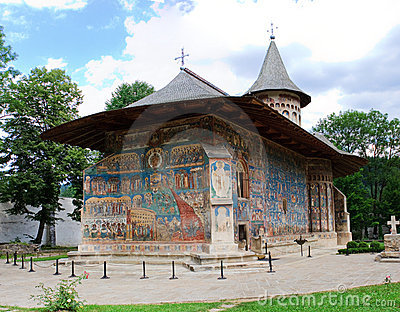 Voronet Monastery viewed from the back