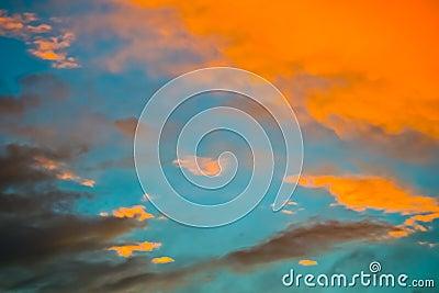 Vortex sky clouds in deep blue sky