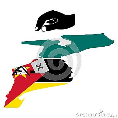 Votación en la elección de Mozambique