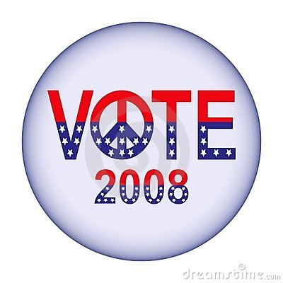 Vote 2008 button