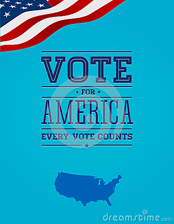 Vote for America vintage poster