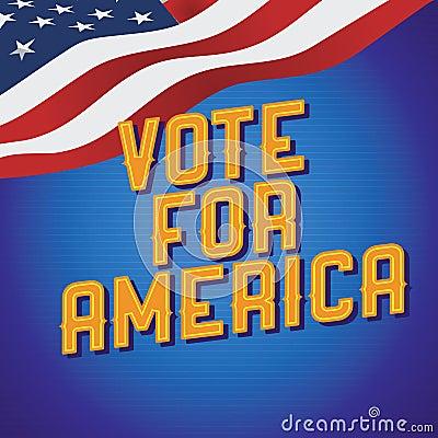 Vote for America vintage poster