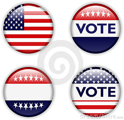 Vote badge for united states